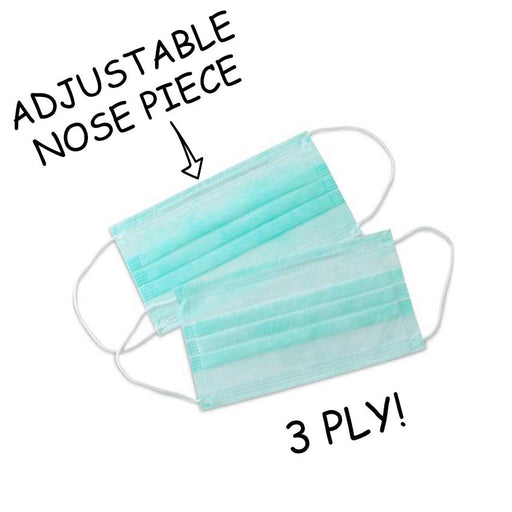 3Ply-Disposable Mask With Nose Pin & Melt brown Filter (Pack of 100) - Eco365