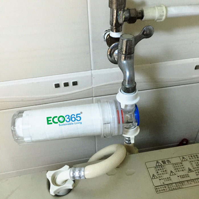 Eco365 Multi Purpose Plastic Washing Machine, Tap, Hand Shower Filter (Transparent) - Eco365