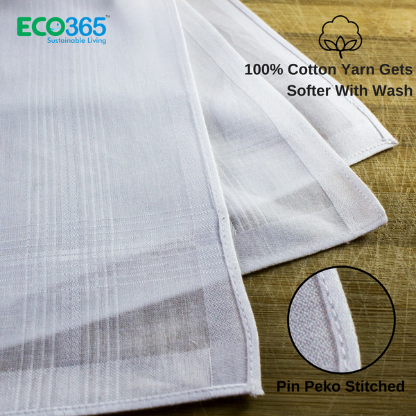 Slim Hankies Pack of 12 - Full White