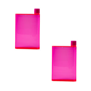 A5 Memo Portable Notebook Water Bottle - Pack of 2