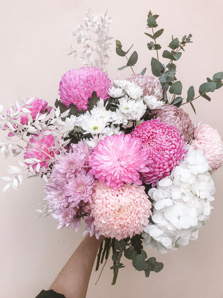 Pastel flower bouquet available for delivery in the Adelaide Hills