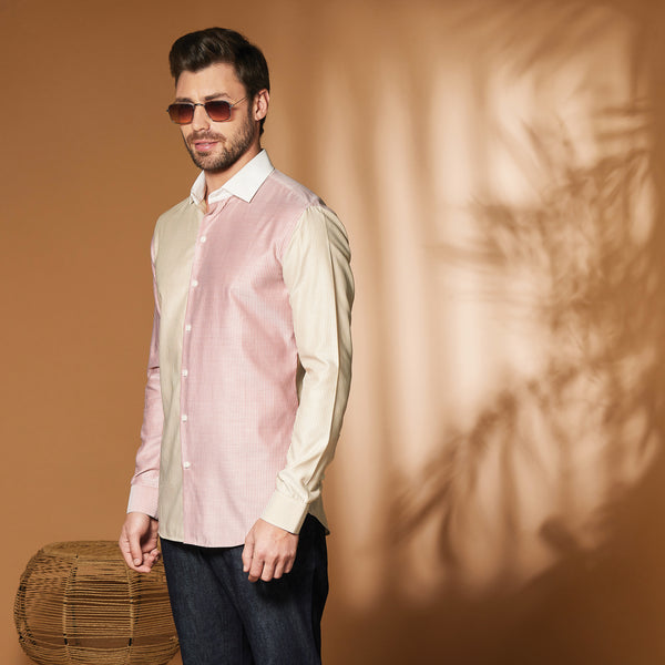 Dual Color Pinstripe Shirt