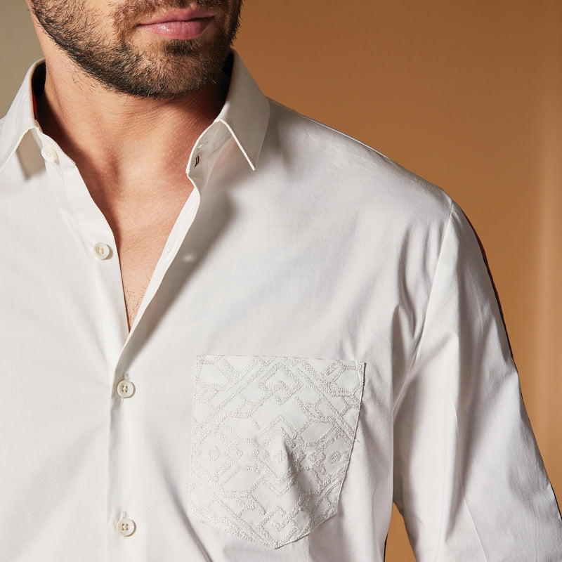 Textured Strip Shirt