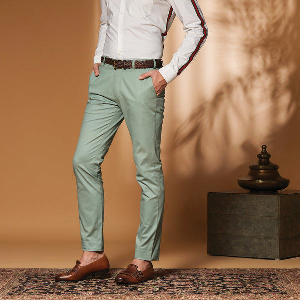 Paris Green Stretch Trouser