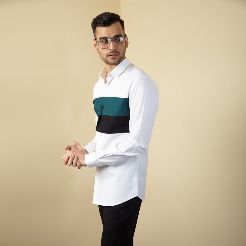 Teal Block Shirt