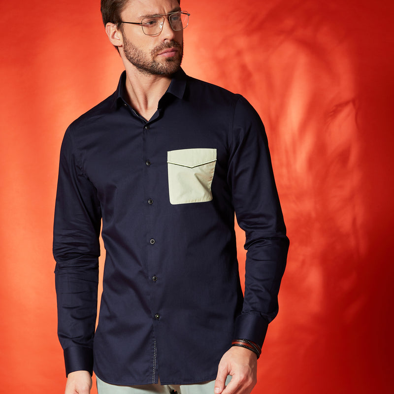 Patch Shirt In Navy