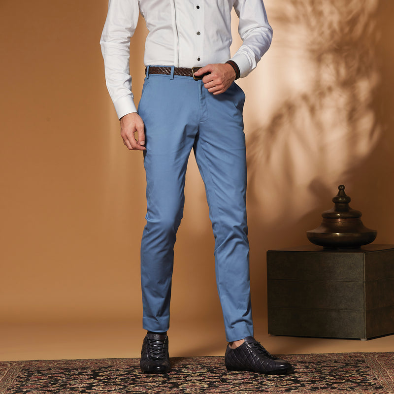 Sky Blue Stretch Trousers