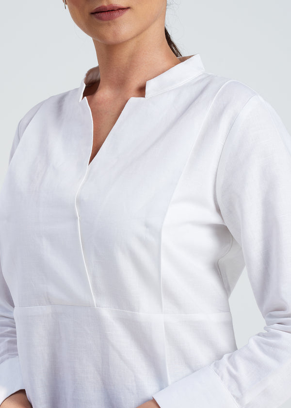 Sharp Linen Top