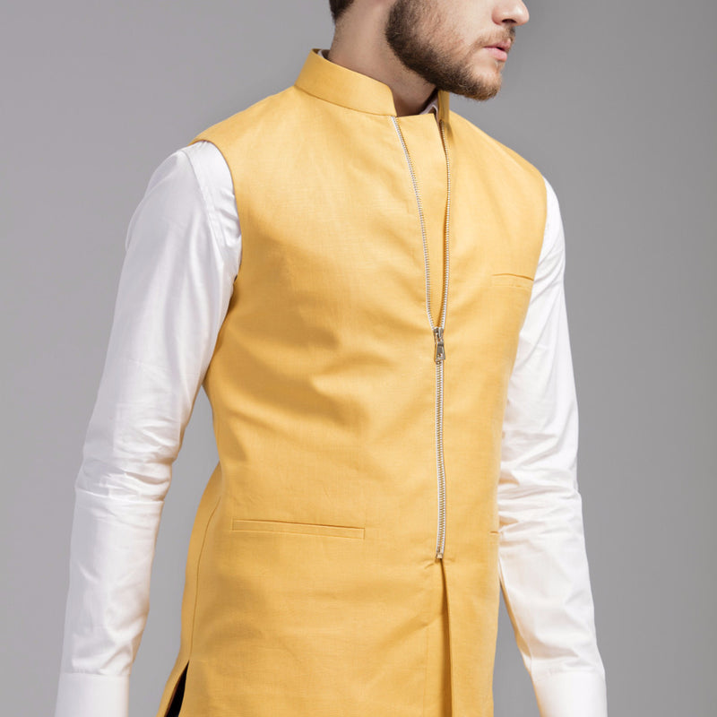 Zipper Nehru Jacket