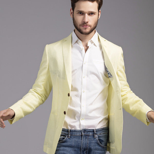 Lemon Linen Jacket