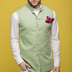 Mint Green Nehru Jacket