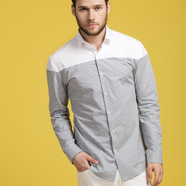 Striped Panel Shirt