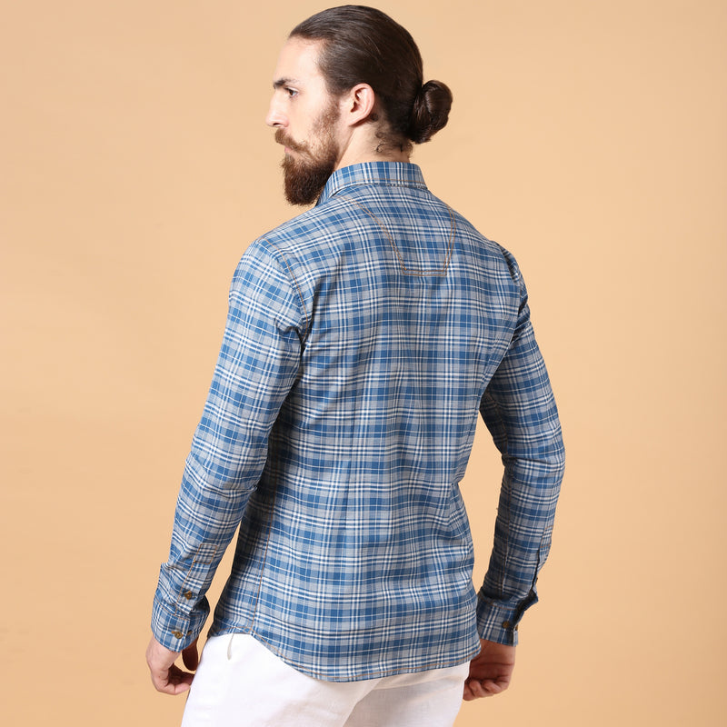 The Classic Check Blue