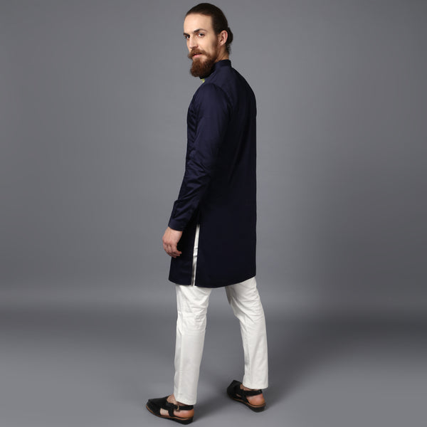 The Navy Kurta