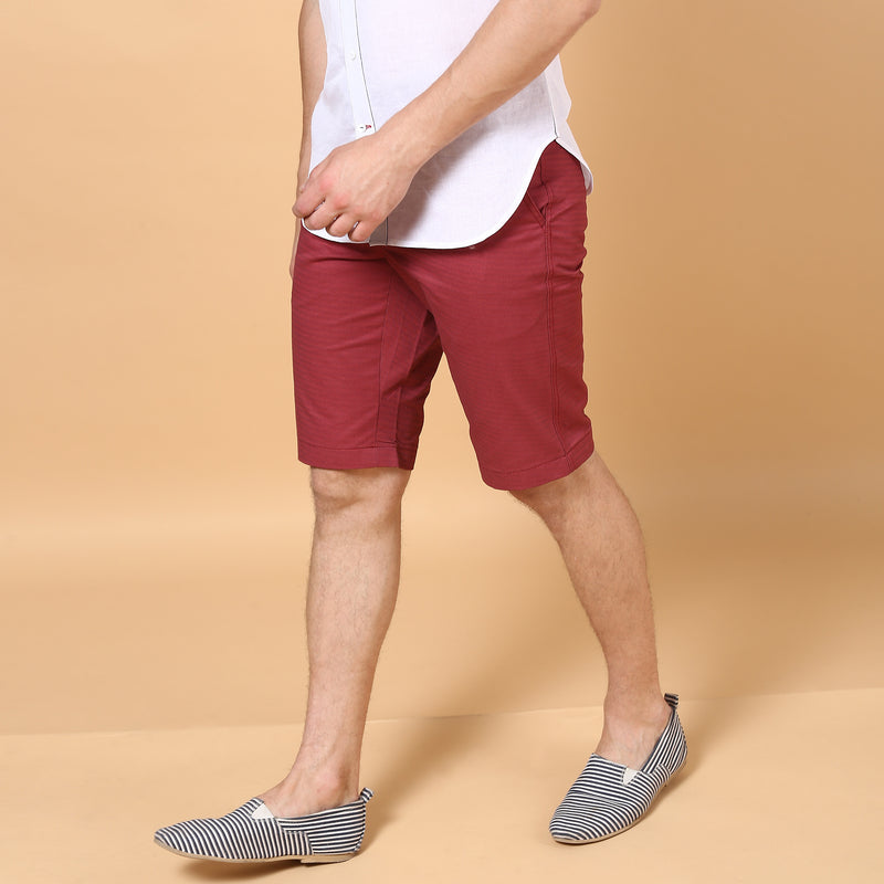 Cotton Shorts Plum