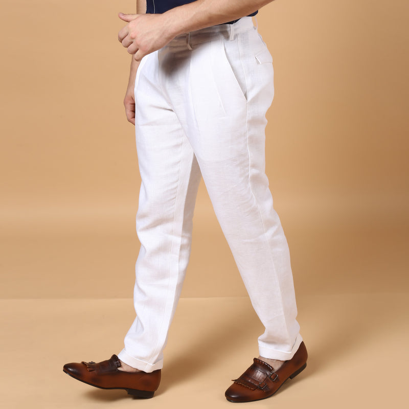 High Buckle Trousers