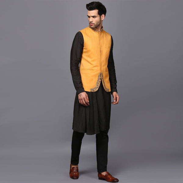 TAGAI NEHRU JACKET WITH HAND EMBRIODEREY