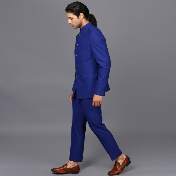 ELECTRIC BLUE JODHPURI SET