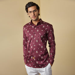 PLUM PRINTED SHIRT