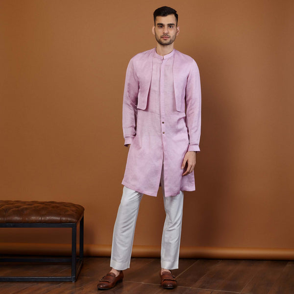 SHARP LILAC KURTA