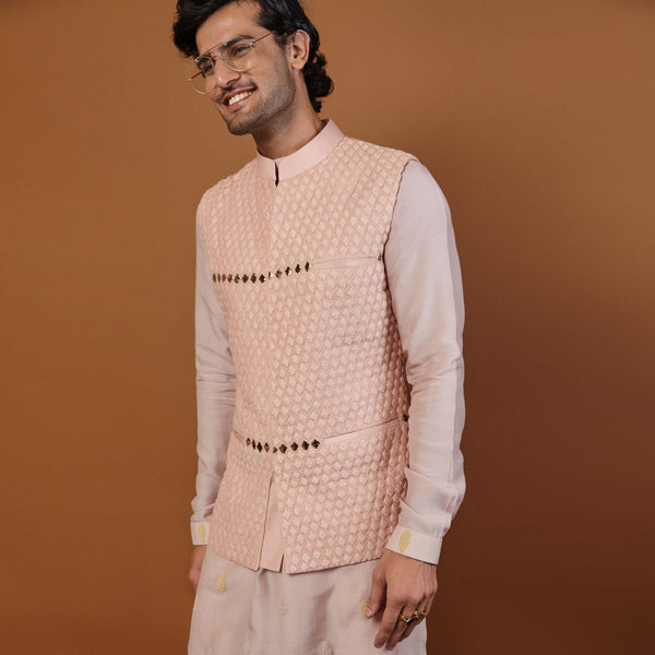 ANCHOR NEHRU JACKET IN PINK