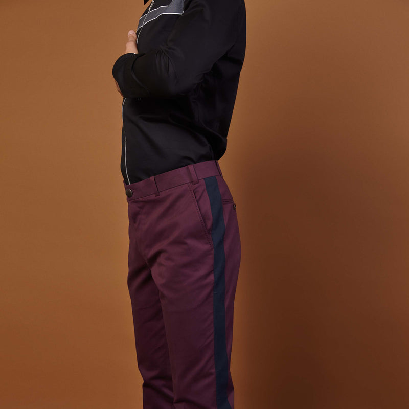RETRO PLUM TROUSERS