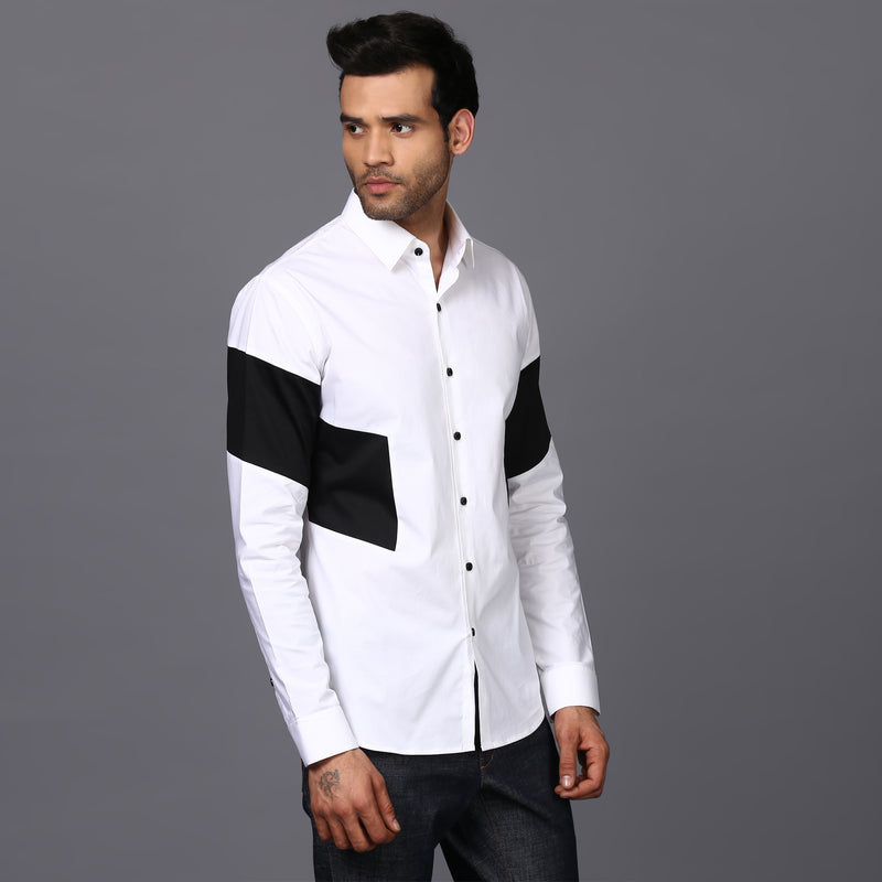 SLEEVE BLOCK SHIRT