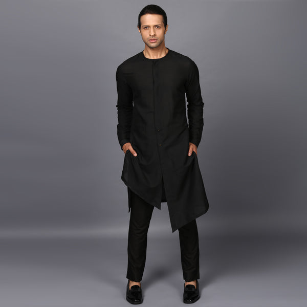 DECONSTRUCTED KURTA IN BLACK