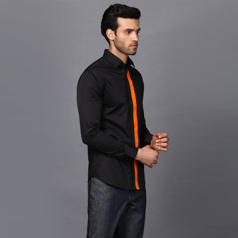 Black & Orange Shirt