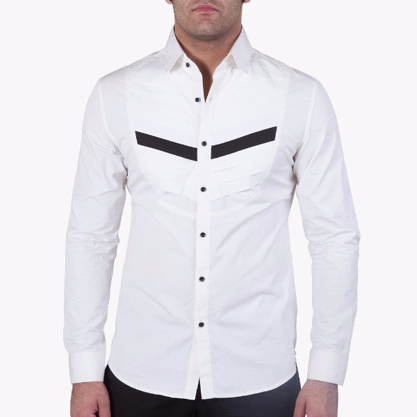 Diagonal Pleated Shirt