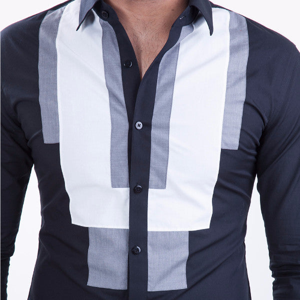 Two-way Bib Black Shirt