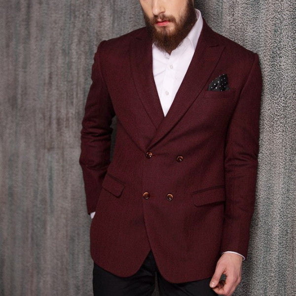 Herringbone Double-breast Blazer