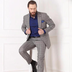 Window-pane Grey Check Suit