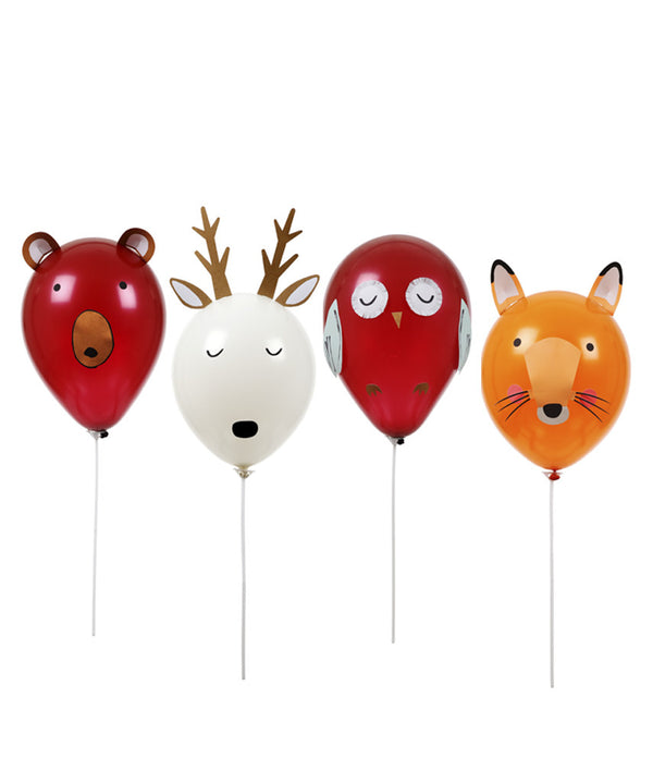 Kit de globos animales del bosque