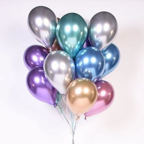 Globos Chrome morados