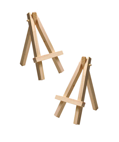 Mini caballetes de madera