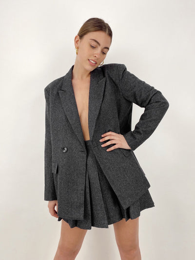 Boy Meets World Oversized Wool Blazer - Vamp Official