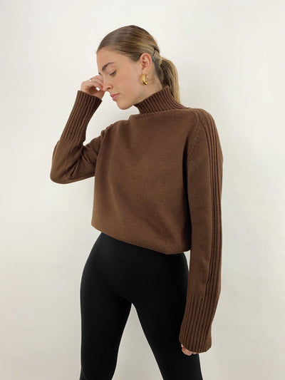 Cabin Fever Ribbed Detail Turtleneck - Vamp Official