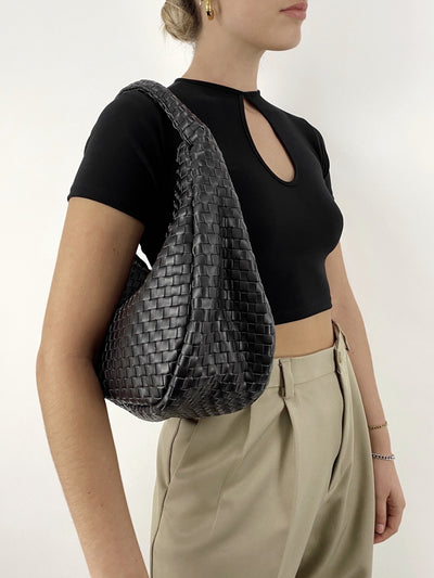 Central Park Woven Shoulder Bag - Vamp Official