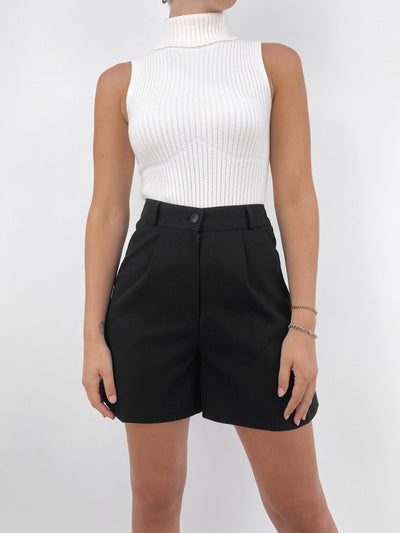 Corporate Girl Tailored Trouser Shorts - Vamp Official