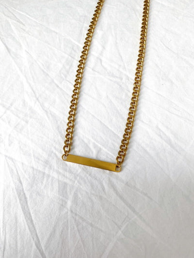 Curb Chain Bar Necklace - Vamp Official
