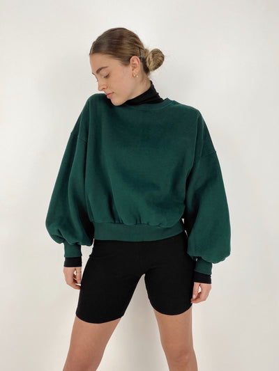 Spruced Up Boxy Crewneck Sweatshirt