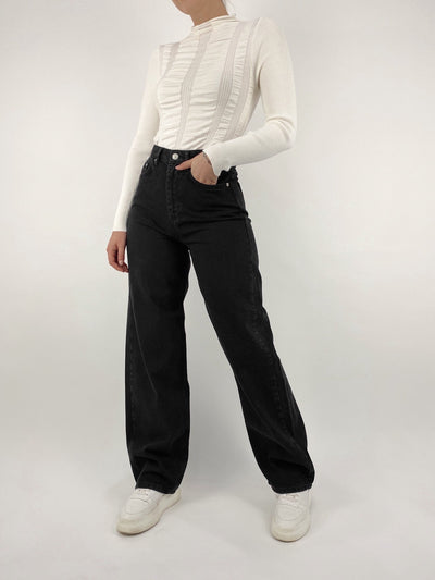 Iris Extra Wide Leg High Rise Jeans - Vamp Official