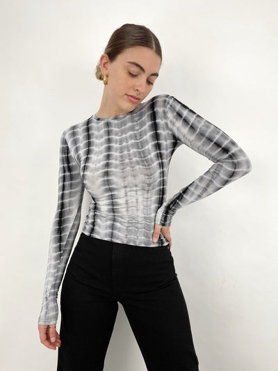Kaleidoscope Mind Long Sleeve Printed Top - Vamp Official