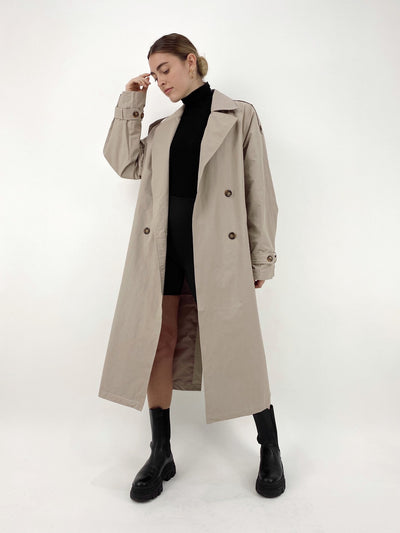 Lost In Seattle Oversized Trench Coat - Vamp Official