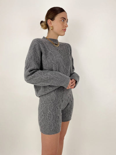 Postcard From Paris Cable Knit Sweater Set - Vamp Official