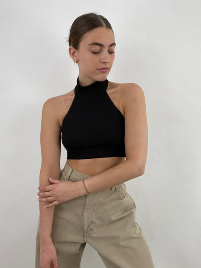 Soho Summer High Neck Cropped Tank - Vamp Official