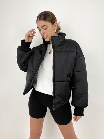 The Sutton Neutral Tone Puffer Jacket - Vamp Official