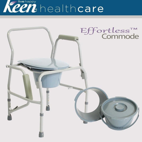EFFORTLESS DROP ARM COMMODE, EFFGW7004 - Wheelchairs electric  -Rollators - Medical supply stores