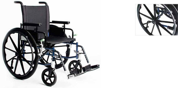 FREELANDER TM 2.0 DELUXE LIGHTWEIGHT WHEELCHAIR,(Standard Footrests),FRD2-M20x18-SL - Wheelchairs electric  -Rollators - Medical supply stores
